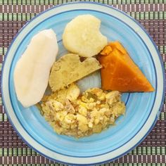 Breakfast for today. Ackee and saltfish  with pumpkin sweet potato irish potato and yam. Traditional Jamaican food. Idk why but it's becoming a whole lot easier to eat within the limits I've set for myself. That's great though. Shows progress! #breakfast #jamaica #jamaicanfood #ackee #yams #pumpkin #potatoes #allnatural #gostozo #delicious #food #wholefood #realfood #yum #nomnom #weightloss #bodyfuel #body  #healthy #healthyalternative #glutenfree #paleo #atkins #whole30 #diet #lifestyle…