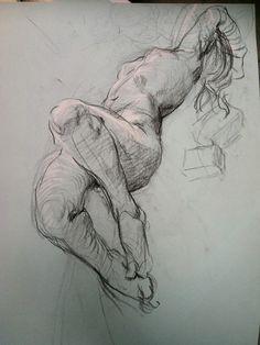 life drawing by Steven Assael 2014-08 • official fb: https://www.facebook.com/steven.assael