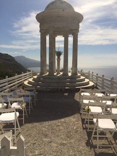 A wedding with a view. What an incredible place to get married, Son Marroig, Deia.