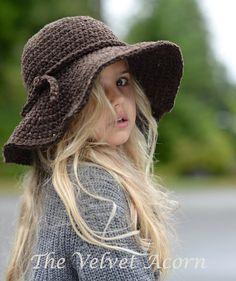 CROCHET PATTERN-The Wanderlust Brim Hat Toddler door Thevelvetacorn