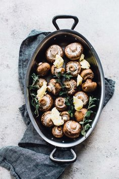 Oregano & Butter Roasted Mushrooms