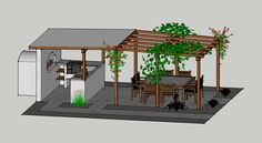 Pergola Kits Attached To House Referral: 4520970154 Wisteria Pergola, Pergola Swing, Deck With Pergola, Wooden Pergola, Pergola Patio, Pergola Plans, Gazebo, Backyard, Pergola Kits