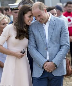 Stylish Duchess: Kate's Resort 2016 dress originally retailed at $1,295 (£976) but Kate, who is known to love a bargain, may have purchased hers in the sale for $777 (£585). The Prince opted for a grey blazer