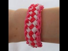 Rainbow Loom- How to Make a Chinese Finger Trap Bracelet (Original Design, UPDATED Tutorial) - YouTube