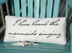 I Have Heard the Mermaids Singing indoor outdoor by crabbychris, $38.00