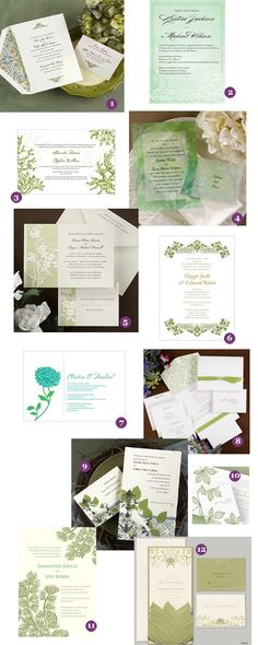Green Wedding Invitations - Up to 35% Off thru March 17th - How Lucky!