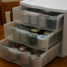 K-Cup storage. Cheap drawers from Walmart!
