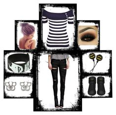 """""""Out with... Out alone"""" by bvb-faver ❤ liked on Polyvore featuring Boohoo and Yves Saint Laurent"""