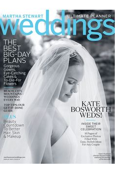 And, leave it to the groom to capture the perfect, cover-worthy shot of his bride. A truly special, final touch for a special couple.Be sure to read more about Bosworth and Polish's big, beautiful affair in this month's Martha Stewart Weddings. #refinery29 http://www.refinery29.com/2013/12/59839/kate-bosworth-wedding#slide-5