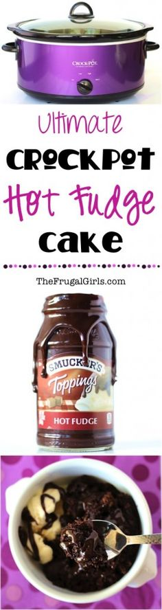 Crockpot Hot Fudge Cake Recipe - at TheFrugalGirls.com