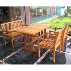 International Caravan Royal Tahiti Mallorca 5-Piece Patio Set