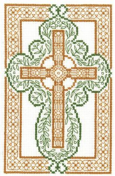 Celtic Cross Counted Cross Stitch Kit, inch x inch, Multicolor Celtic Cross Stitch, Blackwork Cross Stitch, Cross Stitch Fabric, Cross Stitch Borders, Modern Cross Stitch, Counted Cross Stitch Patterns, Cross Stitch Designs, Cross Stitch Embroidery, Hand Embroidery