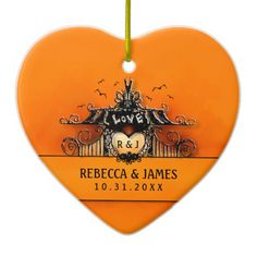 Wedding Ornament - Halloween Love