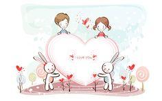 fondos de pantalla de dibujos animados de San Valentín (2) #13 - 1920x1200