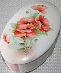 poppy painted on porcelain - Google Search