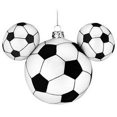 Disney Christmas Ornament - Mickey Ears Large - Sport - Soccer