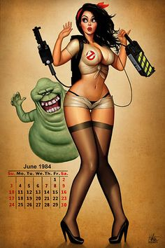 & Ghostbuster girl 'pin up' artwork by Nathan Szerdy Cartoon Tv, Girl Cartoon, Cartoon Characters, Pinup, Ghost Busters, Sexy Cartoons, Comics Girls, Pin Up Art, Comic Books Art