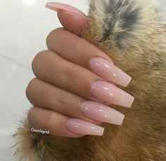 Light Pink Glossy Nails Nails Pinterest Acrylic Nails Nails