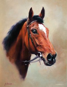 Istabraq Limited Edition Horse Racing Print by Equestrian Artist Jacqueline Stanhope