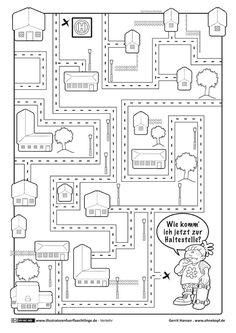 Labyrinth- Maze Level 2 | Maze worksheets | Pinterest | Labyrinth ...