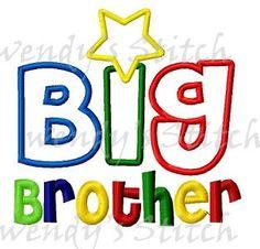 big brother applique machine embroidery digital design three sizes