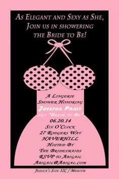 Simply Sexy Lingerie Bridal Shower Personalized by GMCHDesigns, $8.00