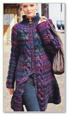 Crochet Free Pattern Summer Ideas For 2019 Knitted Coat Pattern, Knit Cardigan Pattern, Crochet Coat, Knitted Poncho, Jacket Pattern, Crochet Clothes, Braid Patterns, Coat Patterns, Knitting Designs