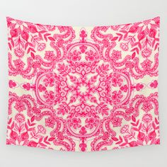 Pink Wall Tapestry pink purple paisley love wall tapestry | wall tapestries, pink