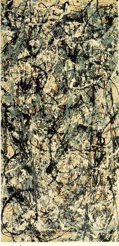 """""""Number 5, 1948″, 1948, JACKSON POLLOCK,   Este espectacular """"drip"""" de Jackson Pollock es de las pinturas más caras jamás vendida, pese a que la exorbitante suma no ha sido totalmente confirmada (aunque tampoco negada). Esta venta demuestra no sólo la fuerza del mercado del Arte, sino también el creciente interés por las obras de Arte contemporáneo."""