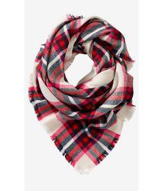 express blanket scarf!! cute for georgia games