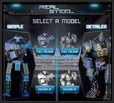 Real Steel - Noisy Boy Free Robot Paper Model Download