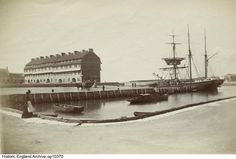 A barque in the harbour at West Bay. Pier Terrace to the left was designed by the English Arts and Crafts architect Edward Schroeder Prior in Please click the image for more information or to explore our collections further. Historical Images, Big Ben, Terrace, England, Collections, Explore, Building, Crafts, Travel