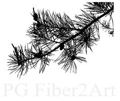 Pine Branch thermofax screen by PGFiber2Art