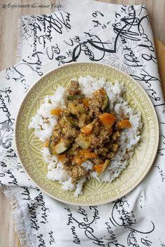 Experimente aus meiner Küche: Cremige Gemüse-Pfanne mit Hackfleisch