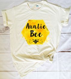 Auntie Bee Organic Women's T-Shirt Bee Gender Reveal, Baby Gender Reveal Party, Bumble Bee Birthday, Bee Party, Bee Theme, Baby Time, Baby Shower Themes, Teen Boys, Future Baby