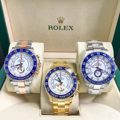 Three of a Kind Two-Tone $17.5K Yellow Gold $29.5K Stainless Steel $13.5K Call Us to Buy When you Decide on your YM-II