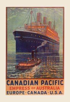 Ocean Liner Travel Poster Cruise Ship by EncorePrintSociety