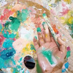Dont you love it when your hand starts to become one with your palette and your…