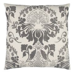 Rizzy Home Stitched Floral Damask Decorative Pillow - PILT12334GYNT2020