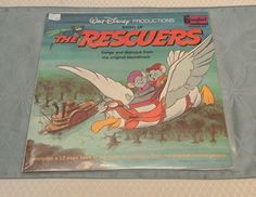 1977 DISNEYLAND LP Walt Disney Productions THE RESCUERS with Booklet 3816 #SingAlong