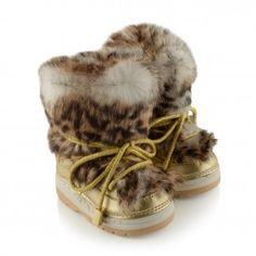 Missouri Girls Fur Leopard Snow Boots