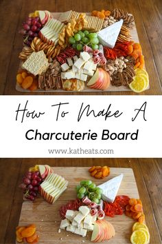 How to build a Charcuterie Board. All of the ingredients come from Trader Joe's and the step-by-step instructions will show you exactly how to put them together to create a beautiful board for your Thanksgiving or holiday table. Charcuterie Recipes, Charcuterie And Cheese Board, Charcuterie Platter, Cheese Boards, Lunch Snacks, Party Snacks, Appetizers For Party, Fall Recipes, Real Food Recipes