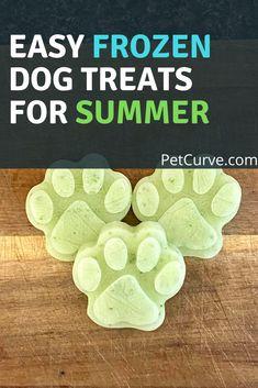 Puppy Treats, Diy Dog Treats, Homemade Dog Treats, Dog Treat Recipes, Dog Food Recipes, Homemade Food, Summer Dog Treats, Frozen Dog Treats, Treat Quotes