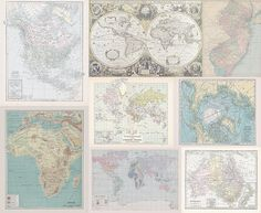 Fabric Yardage - Instant Quilt with many maps - yardage of Antique and Vintage World Map fabric - Cheater Fabric