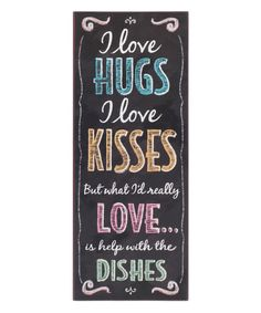 Look at this 'Dishes' Wall Sign on #zulily today!