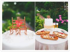 Rocking chair cake topper - so cute!  Perfect for growing old together ...