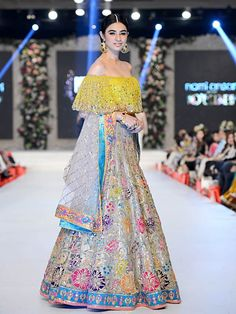 I loved the colors in the outfits by designer Kamiar Rokni...seen at PFDC L'Oréal Paris Bridal Week 2015 #PFDC2015 #Frugal2Fab