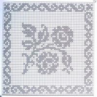 Home Decor Crochet Patterns Part 105 - Beautiful Crochet Patterns and Knitting Patterns Filet Crochet Charts, Crochet Cross, Crochet Diagram, Crochet Home, Crochet Motif, Crochet Doilies, Cross Stitch Flowers, Cross Stitch Patterns, Knitting Patterns