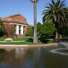 Stunning grounds surrounding the Haggin Museum Stockton, California that is located in Victory Park.