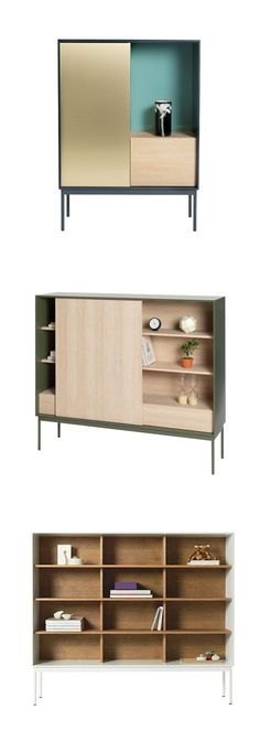 Each Besson Cabinet by Asplund is unique and tailored to your storage needs. Click through the image and start designing yours now! #storage #shelving #hauteliving